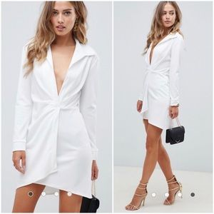Deep V Bodycon Shirt Dress  Size 8-10